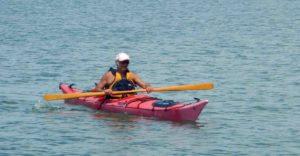 "Fabio con il mio ""kayak norvegese"""