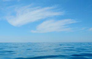 L'arcipelago pontino all'orizzonte