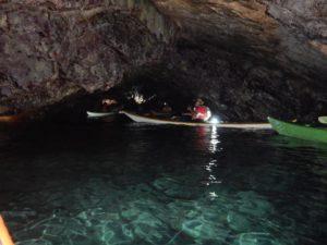 Nella calda Grotta Azzurra