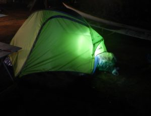 Valerio in tenda