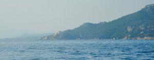 Il faro di Capo d'Orso da punta S. Stefano