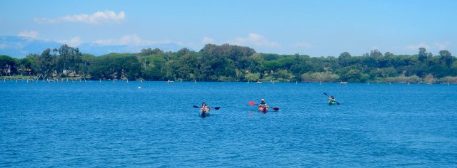 Kayakers in erba