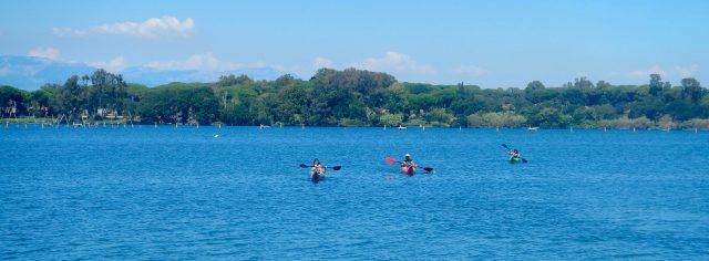 Kayakers in erba
