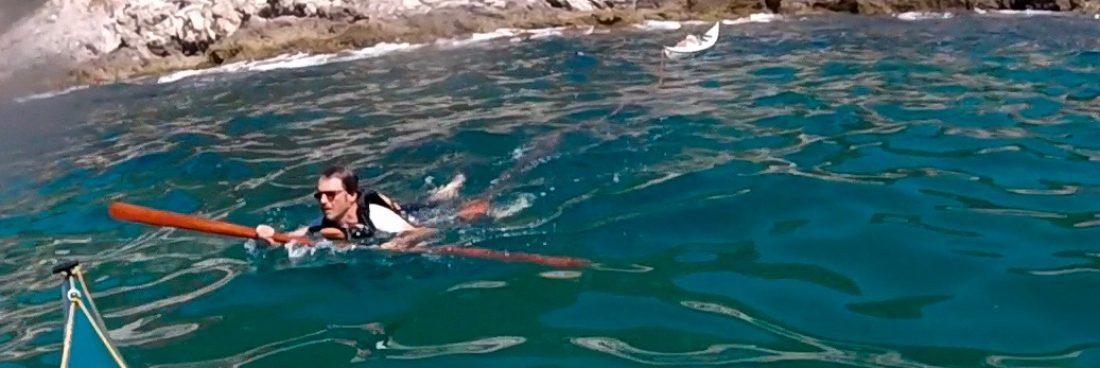 Traino a nuoto del kayak